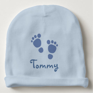 Blue Footprints Infant Hat Baby Beanie