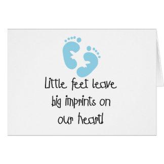 Blue Footprints Little Feet Big Imprints Card