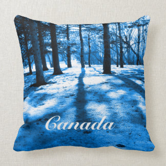 Blue Forest Canada Souvenir Snow Trees Beautiful Cushion