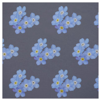 Blue Forget-me-not Fabric