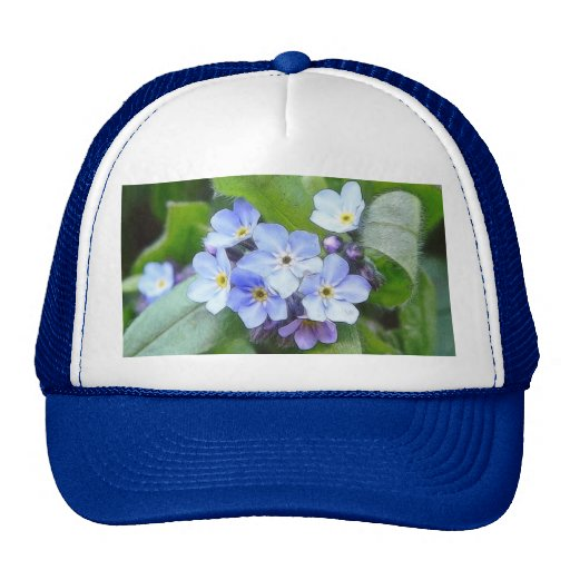 Blue Forget Me Not Flowers Hats