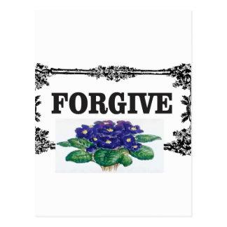 blue forgive fun postcard