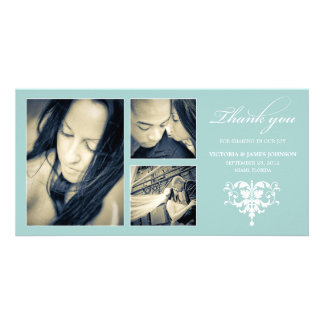 BLUE FORMAL COLLAGE | WEDDING THANK YOU CARD CUSTOMISED PHOTO CARD