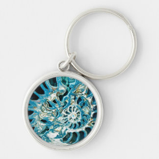 Blue Fossil Key Ring