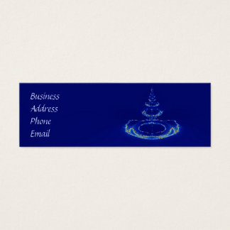 Blue fountain mini business card