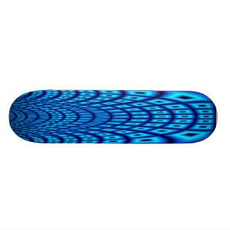 Blue Fractal 18.1 Cm Old School Skateboard Deck