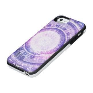 Blue Fractal Alchemy HUD for Bending Hyperspace iPhone SE/5/5s Battery Case