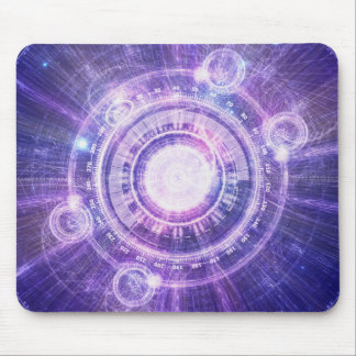 Blue Fractal Alchemy HUD for Bending Hyperspace Mouse Pad