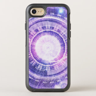 Blue Fractal Alchemy HUD for Bending Hyperspace OtterBox Symmetry iPhone 8/7 Case