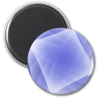Blue Fractal Blank Background 6 Cm Round Magnet