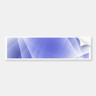 Blue Fractal Blank Background Bumper Sticker
