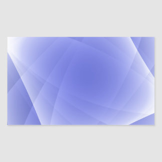 Blue Fractal Blank Background Rectangular Sticker