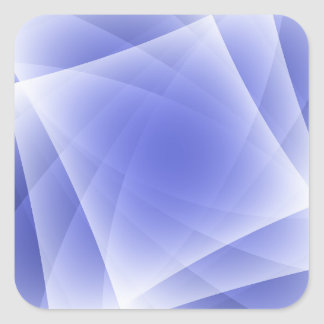 Blue Fractal Blank Background Square Sticker