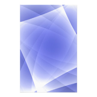 Blue Fractal Blank Background Stationery Design