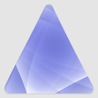 Blue Fractal Blank Background Triangle Sticker