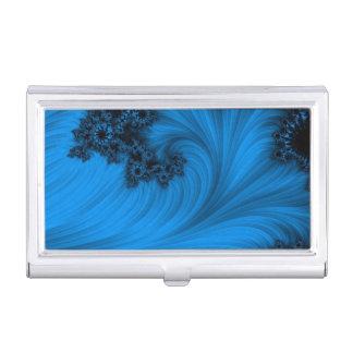 Blue Fractal Business Card Holder