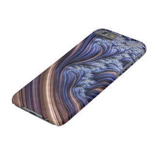 Blue fractal image barely there iPhone 6 case