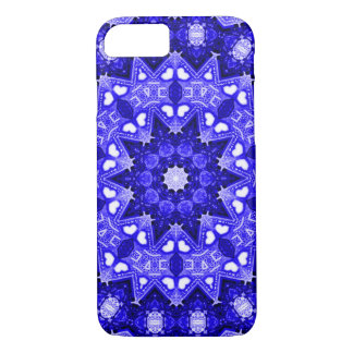 Blue Fractal iPhone 7 Case