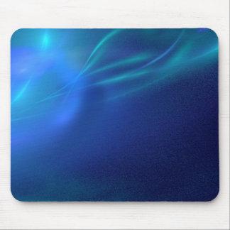 Blue Fractal Mist Mouse Pad