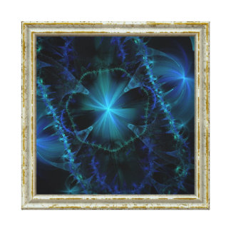 Blue Fractal Pattern Canvas Print