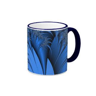 Blue Fractal Ringer Mug