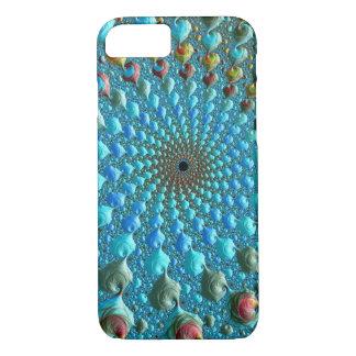 Blue Fractal Vortex iPhone 8/7 Case