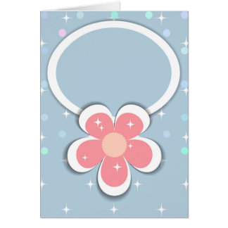 Blue frame card