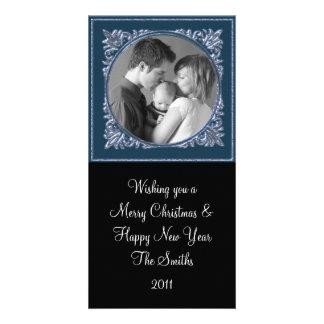 Blue Frame Custom Photo Card