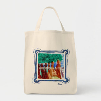 Blue Frame Grocery Tote  $15.95