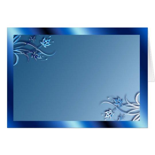 Blue Frame (landscape) Card