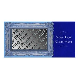 Blue Frame Photo Card