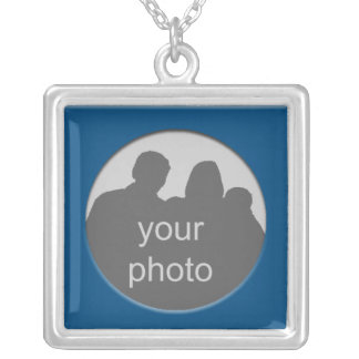 Blue Frame Sterling  Necklace Photo Template 2