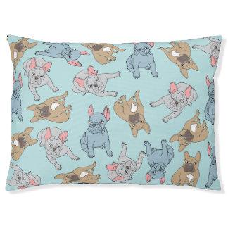 Blue French Bulldog Bed