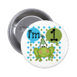 Blue Frog 1st Birthday Tshirts and Gifts Pinback Button