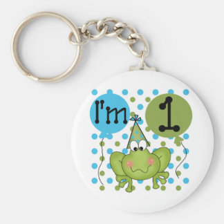 Blue Frog 1st Birthday Tshirts and Gifts Keychains