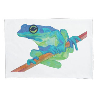 Blue Frog Pillowcase