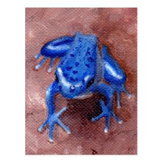 Blue Froggy Postcard