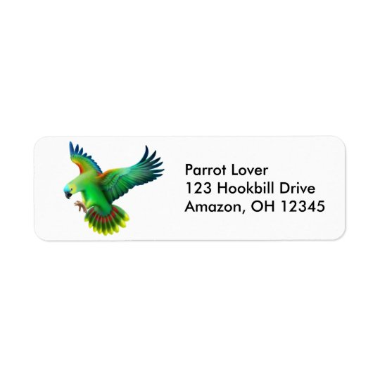 Blue Fronted Amazon Parrot Label Return Address Label