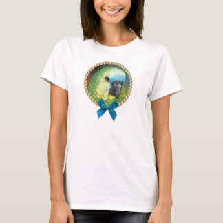 Blue fronted amazon parrot realistic painting T-Shirt