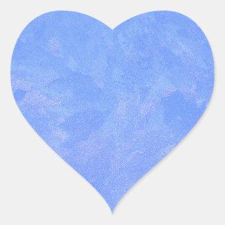 Blue Frost Heart Sticker