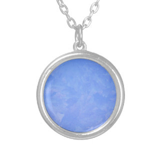 Blue Frost Silver Plated Necklace