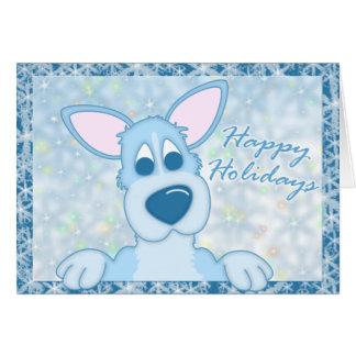 Blue Frosty Pembroke Welsh Corgi Christmas Card