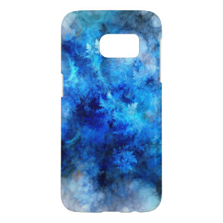 Blue Frozen Samsung Galaxy S7, Barely There