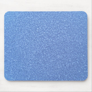Blue Frozen Surface Ice Crystal Background Mouse Pad