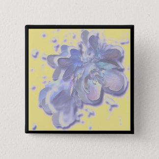 Blue Fruit Tree Flower Blossoms Button