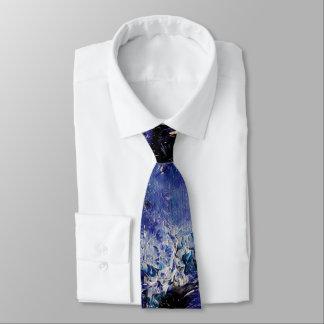 Blue Funky Art Tie