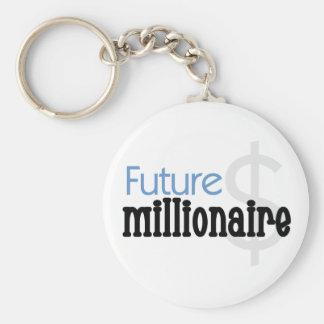 Blue Future Millionaire Key Ring