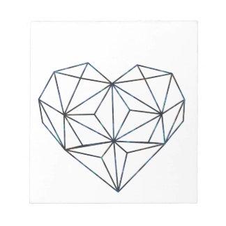 blue-galaky-geo-heart notepad