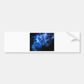 Blue Galaxy Print Bumper Sticker