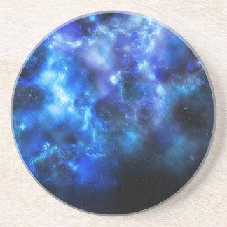 Blue Galaxy Print Coaster